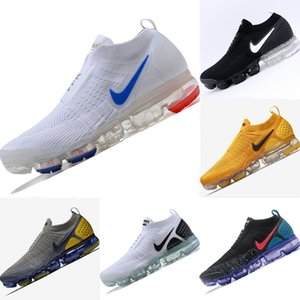 2019 Moc sigla Fly Arame respirável Slip_on Running Shoes Originals FK Moc 2 Sigla navio Sangue Zoom Air Sports Shoes