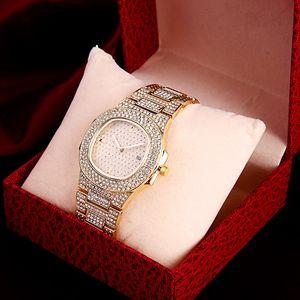 MONTRE는 새로운 브랜드 우아한 럭셔리 디자이너 숙녀 화이트 세라믹 남성 드레스 다이아몬드가 자동 daydate 골드 팔찌 시계 시계 여자 팜므