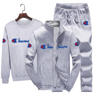 أبطال الرجال الصوف الخريف الملابس سترة + سروال هوديس + 3 قطعة مجموعة الملابس الدافئة سميكة رياضية بالاضافة الى حجم M-4XL عداء ببطء البدلة الشتوية 1638