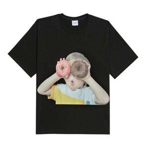 Acme DE la Vie ADLV Baby Face Short Sleeve T-shirt Black Donuts boy Face Sleeve Black