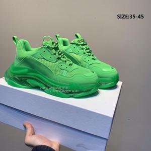 2019 Luxe Paris Triple de 3,0 Sneakers Transparent azote cristal Semelle extérieure Chaussures de course Hommes Femmes Formateurs Noir Designer Blanc EUR 36-45