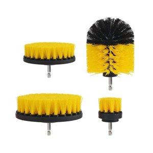 Neumáticos Taladro Taladro eléctrico 12pcs cepillo de limpieza kit de plástico Cepillo redondo para la alfombra de cristal del coche de nylon Cepillos de alimentación del depurador