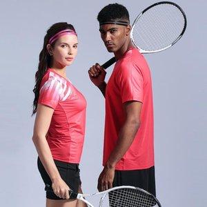 Nuovo Badminton camicie uomini / donne, gioco di squadra Running Training T Shirt, campi da tennis sport t-shirt, pallavolo pingpong t-shirt