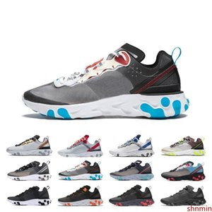 New Sale React Element 87 55 Running Shoes For Men Women Sail SE Taped Seams Royal Tint Anthracite Total Orange Green Mist Sneakers