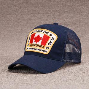 2020 nouveau cap DSQICOND2 hommes de luxe concepteur chapeau casquettes maille casquettes de baseball femmes broderie réglable disponible pour Casquette sélection nouvelle d2