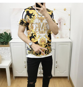 Luxury Medusa printed monogram fashion T-shirt summer breathable T-shirt casual simple men and women street short sleeve M-3XL