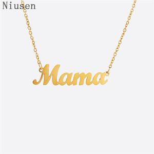 """Carta Mama Colar Dainty """"Mama"""" Charme Colar do presente do amor Para o presente do dia da matriz da mamã Avó delicado jóias palavra da Mãe"""