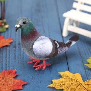 heap Figurines & Miniatures Simulation Foam Pigeon Model Fake Artificial Imitation Bird Animal Home Garden Ornament Miniature Decoration ...