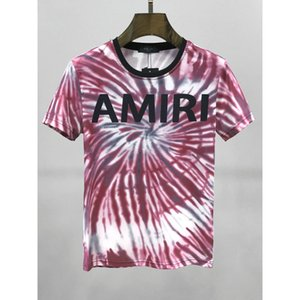 Europe and America tide brand short-sleeved T-shirt Amiri AMIRI 2020 SS AMIRI color casual tie-dyed T-shirt Best Design Hotest seller