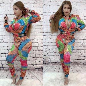 Drucken Mode Luxus Lässige Kleidung Frauen Herbst Designer 2Pcs Tracksuits Rundhalsausschnitt mit Kapuze lange Hosen Floral