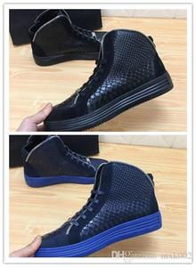 SS18 New Arrive Sneaker-Platform Hommes Chaussures SS1798 Top Stars couche de luxe en cuir de rivet Casual Men Chaussures EUR38-45 hn03