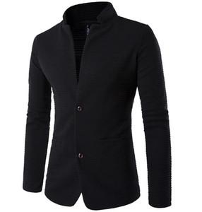 팔꿈치 pacthwork 내마모성 패브릭 디자인을 팔 재킷 MS 남자 긴 두 개의 버튼을 순수한 컬러 남성 비즈니스 재킷 코트 무료 배송 XY618 슬리브