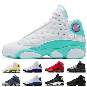 أحدث 13 13S من الرجال والنساء أحذية كرة السلة الأبيض حلق الأخضر الوردي فلينت ملعب فرط الملكي ما هو الحب كاب وثوب رجالي