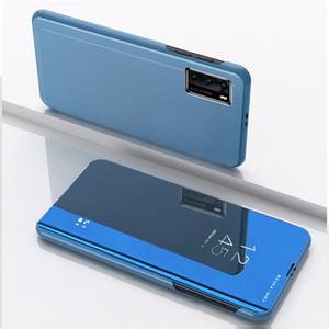 Specchio di placcatura WindowView basamento di vibrazione di caso per Huawei P40 Pro P30 Pro Mate 30 Mate 20 Pro Onore 20 P20 Lite Nova 3i