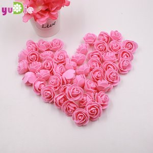 30PCS / Bag Can Mix Color Mini Pe Foam Flower Head Artificial Rose Flowers Scrapbooking Handmaded DIY Wedding Home Decoration