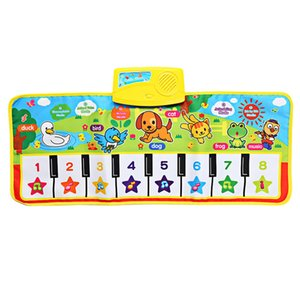 OCDAY 71*28cm Baby Musical Carpet Children Play Mat Baby Piano Music Gift Baby Early Educational Mat Electronic Kids Toy New Hot