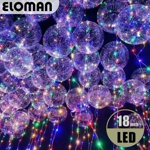 HOT Party LED balloons wedding event home party decorations 3m Led linghts super clear led Bobo bubble balloons 18inch 24inch