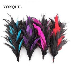 Tüy çiçek siyah tel tüy ipek çiçek DIY fascinators parti dekorasyon düğün şapkalar giyim accessoires çok renkler