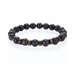 Mcllroy Stone 팔찌 / 비즈 / 용암 / 천연 / 옴므 / 패션 / 팔찌 남성 나무 비즈 accessorie 보석 남성 발렌타인 선물