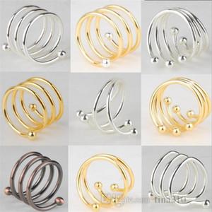Moda metal Peçete toka Altın Hattı Gümüş Boncuk Peçete Halkası Son Peçete Dekoratif toka T9I007 Sıcak satış