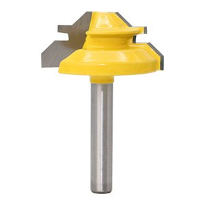 1PC Small Lock Miter Router Bit Anti-kickback 45 Degree 1 2 Inch Stock 1 4 Inch Shank Tenon Cutter for WoodworkingTools-RCT15291