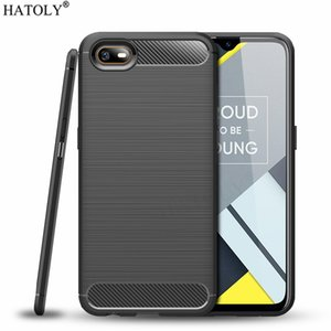 Fitted ases For OPPO Realme C2 Case Realme C2S C3 Soft Back Cover Shockproof Bumper Carbon Fiber TPU Texture Phone Case For