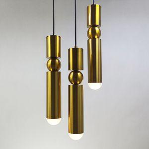 1 pcs nordique moderne lampes suspendues plaqué or argent fer créatif lampe suspendue salle à manger salon chambre balcon luminaire