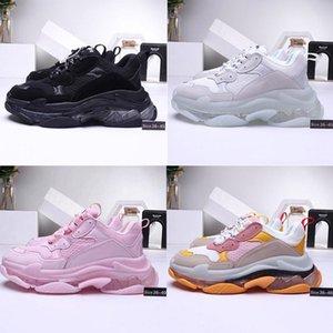 2019 Yeni Moda Paris Triple-S Tasarımcı Ayakkabı Kristal yegane Sneakers Üçlü S Erkek Casual Kadınlar tasarımcı gündelik Spor Eğitmenler zapatos