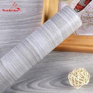 5M / 10M autoadesiva carta da parati di legno del grano muro Adesivi impermeabile Mobili in legno porta del guardaroba desktop della parete del vinile Papers T200609