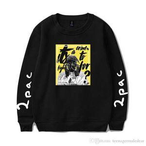 2PAC Рэпер Мужские толстовки Весна длинным рукавом Экипаж шеи Сыпучие Пары фуфайки Мода Hiphop Мужской Одежда