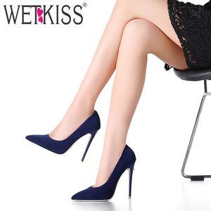 WETKISS Elegant The Newest Shallow Thin High Heels Pumps Dress Party Office Lady Pumps Punta estrecha Primavera 2019 Zapatos de mujer