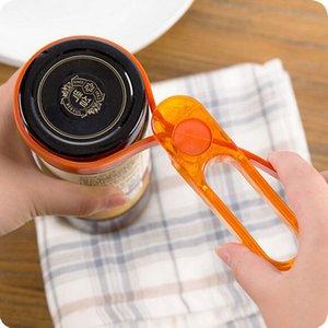 6pcs cuisine pratique multi bouteille de plastique gadget cuisine cuisine peut pots de vin pots couvercle ouvreur outils en étain couleur aléatoire!