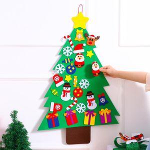 Yeni Santa Ağacı Sihirli Noel Puzzle Deco Arkadaş Kid'S Noel Yaratıcı Hediye DIY Dekorasyon Oyuncak Diy Aksesuarları HH9-2460 Keçe