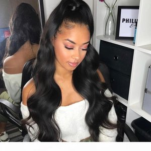 A Hd Frontal Lace Wig Cheap Indian Remy Body Wave Glueless With Baby Hair Hd Transparent Human Hair Full Lace Front Wigs Bleached Knots