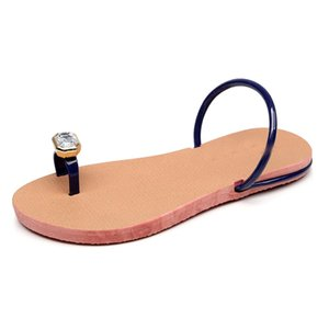 SAGACE 여성 슬리퍼 여름 플립은 발가락 슬리퍼 비치 신발 여성 보헤미안 로마 스타일 라인 석 플랫 샌들