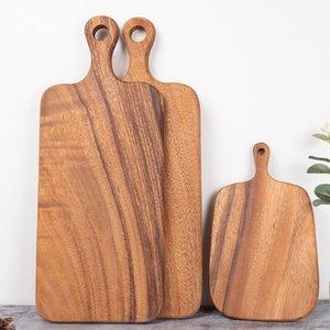 Acacia tábua de corte de madeira de madeira servindo de bandeja planche tapas Sushi pizza placa placa de madeira pratos prato de bolo
