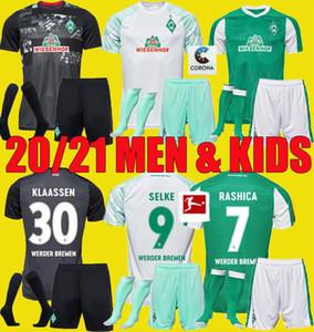 2020 hombres hijos kits 2021 SV Werder Bremen tercer Fútbol 20 21 FRIEDL Klaassen Selke RASHICA BARTELS Werder Bremen en casa camisetas de fútbol