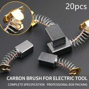 20pcs Mini Drill Electric Grinder Replacement Carbon Brush Spare Parts For Electric Motors Rotary Tool 5x8x13mm 10 Pairs
