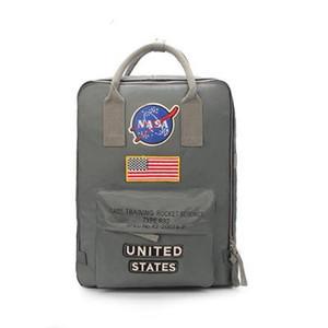 브랜드 뉴 NASA 가방 19ss 국기 디자이너 배낭 남성 여성 디자이너 가방 남녀 학생 가방