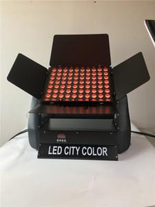 80x10 w rgbw çok renkli 4in1 pr şehir renk su geçirmez p65 dmx kontrol duvar yıkama şehir renk led ışık