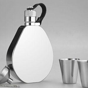Honest 304 Stainless Steel Hip Flask Set 6 OZ Portable Outdoor Waterproof Flagon Wine Pot Barware For Men Hip Flasks Drinkware