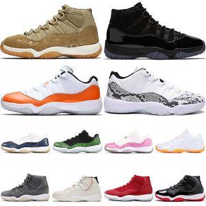nike air jordan retro 11 11s Scarpe da pallacanestro Olive Lux Cap and Gown Arancione Trance Snakeskin - Bianco Navy Green Pink des donna scarpe da ginnastica da uomo