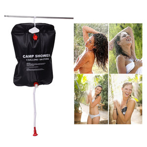 Outdoor Bags 20L Water Bag Foldable Solar Energy Heated Camp PVC Shower Camping Travel Hiking Climbing BBQ Picnic Storage