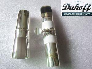 56789 nakliye Yeni Professional gümüşi Dukoff Tenor Soprano Alto Saksafon Metal Ağızlık Sax Dukoff Ağız Parçalar Ücretsiz
