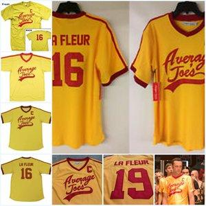 Average Joe's C 16 - Dodgeball Peter 19 La Fleur Movies jersey 100% stitched Football jerseys Orange