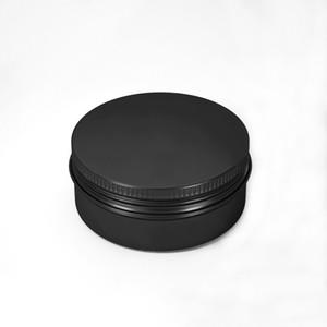 فارغة الألومنيوم حاويات التجميل وعاء الشفاه بلسم جرة القصدير كريم مرهم كريم التغليف كريم مرهم 10-15-20-30-50-60-80-100-150ML (أسود)