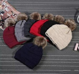 Bambini adulti spessi cappello invernale caldo per le donne cavo stretch morbido cavo a maglia pom pom poms berretti cappelli da donna picksulies berretti ragazze tappo da sci