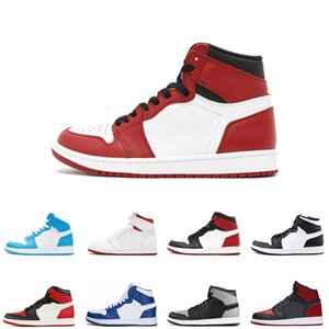 New 1s men sneakers High OG Basketball Shoes chicago black toe bred toe UNC Men 1s Top 3 Shadow Sneakers size us 7-12