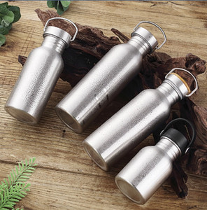 Из нержавеющей стали бутылки воды металлическая бутылка для воды широкий рот изолированная герметичным спортивные бутылки стакан сохранять жидкость холодной