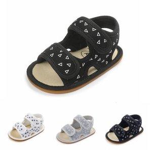 Yenidoğan Yaz 16 renk Yeni Üçgen Cotton sandalet Sert tek bebek makosenler Kaymayan Bebek bebek kız erkek sandalet